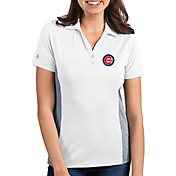 Antigua Women's Chicago Cubs Venture White Performance Polo