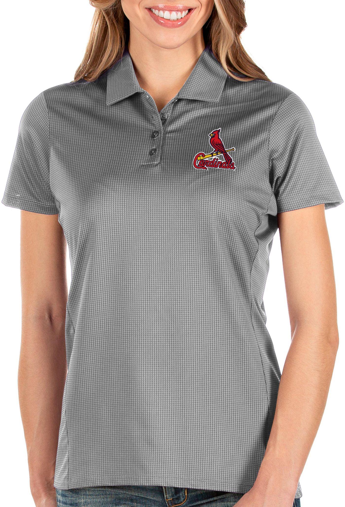 Antigua Women's St. Louis Cardinals Grey Balance Polo
