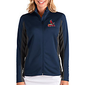 Antigua Women's St. Louis Cardinals Navy Passage Full-Zip Jacket