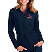 Antigua Women's St. Louis Cardinals Navy Glacier Full-Zip Jacket