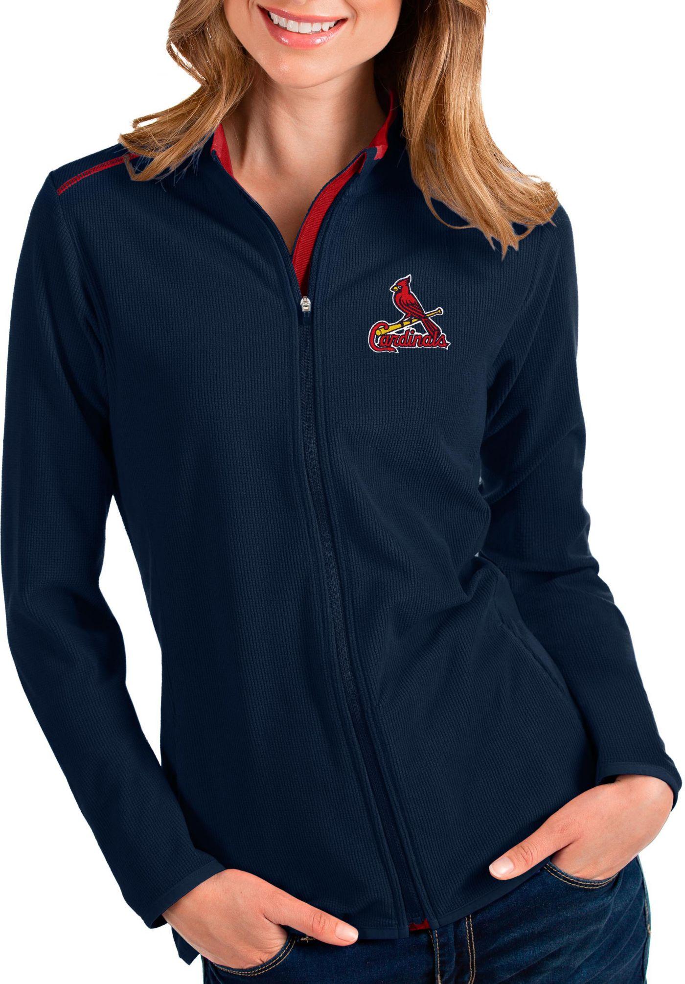 Antigua Women's St. Louis Cardinals Navy Glacier Full-Zip Jacket