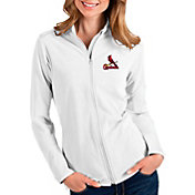 Antigua Women's St. Louis Cardinals White Glacier Full-Zip Jacket