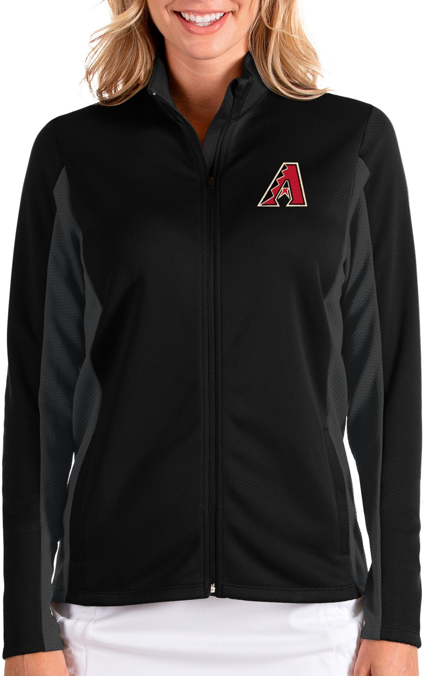 Antigua Women's Arizona Diamondbacks Black Passage Full-Zip Jacket