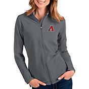 Antigua Women's Arizona Diamondbacks Grey Glacier Full-Zip Jacket