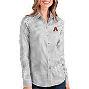 Antigua Women's Arizona Diamondbacks Structure Button-Up Grey Long Sleeve Shirt