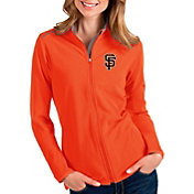 Antigua Women's San Francisco Giants Orange Glacier Full-Zip Jacket