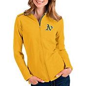 Antigua Women's Oakland Athletics Gold Glacier Full-Zip Jacket