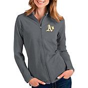 Antigua Women's Oakland Athletics Grey Glacier Full-Zip Jacket