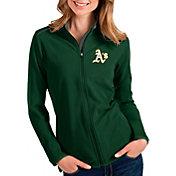 Antigua Women's Oakland Athletics Green Glacier Full-Zip Jacket