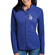 Antigua Women's Los Angeles Dodgers Royal Sonar Performance Quarter-Zip Pullover