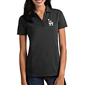 Antigua Women's Los Angeles Dodgers Tribute Grey Performance Polo