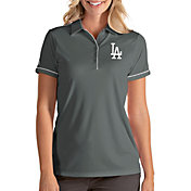 Antigua Women's Los Angeles Dodgers Salute Grey Performance Polo