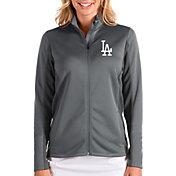 Antigua Women's Los Angeles Dodgers Grey Passage Full-Zip Jacket