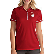 Antigua Women's Los Angeles Dodgers Salute Red Performance Polo