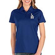 Antigua Women's Los Angeles Dodgers Royal Balance Polo