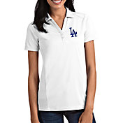 Antigua Women's Los Angeles Dodgers Tribute White Performance Polo