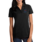 Antigua Women's Miami Marlins Tribute Black Performance Polo