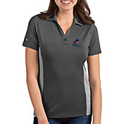 Antigua Women's Miami Marlins Venture Grey Performance Polo