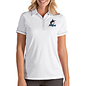 Antigua Women's Miami Marlins Salute White Performance Polo