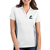 Antigua Women's Miami Marlins Venture White Performance Polo