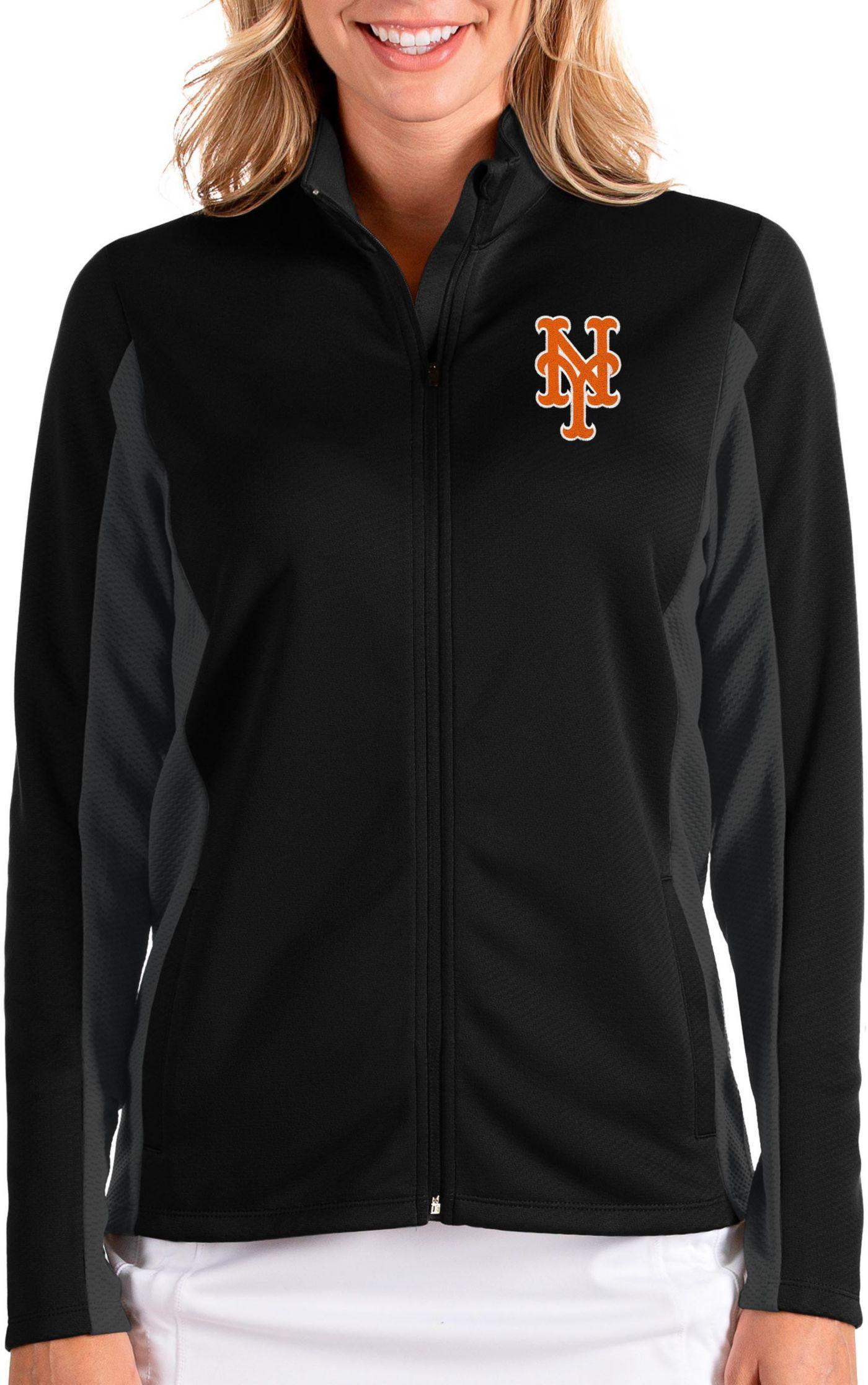 Antigua Women's New York Mets Black Passage Full-Zip Jacket