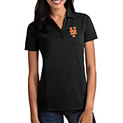 Antigua Women's New York Mets Tribute Black Performance Polo