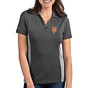 Antigua Women's New York Mets Venture Grey Performance Polo
