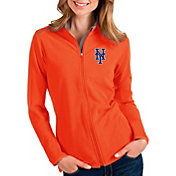 Antigua Women's New York Mets Orange Glacier Full-Zip Jacket
