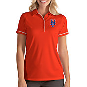 Antigua Women's New York Mets Salute Orange Performance Polo