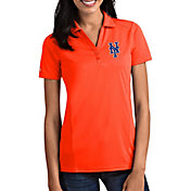 Antigua Women's New York Mets Tribute Orange Performance Polo