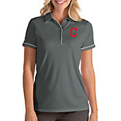 Antigua Women's Cleveland Indians Salute Grey Performance Polo