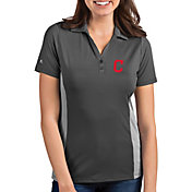 Antigua Women's Cleveland Indians Venture Grey Performance Polo