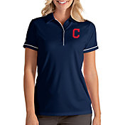 Antigua Women's Cleveland Indians Salute Navy Performance Polo