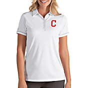 Antigua Women's Cleveland Indians Salute White Performance Polo