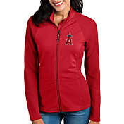 Antigua Women's Los Angeles Angels Red Sonar Performance Quarter-Zip Pullover