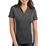 Antigua Women's Los Angeles Angels Venture Grey Performance Polo