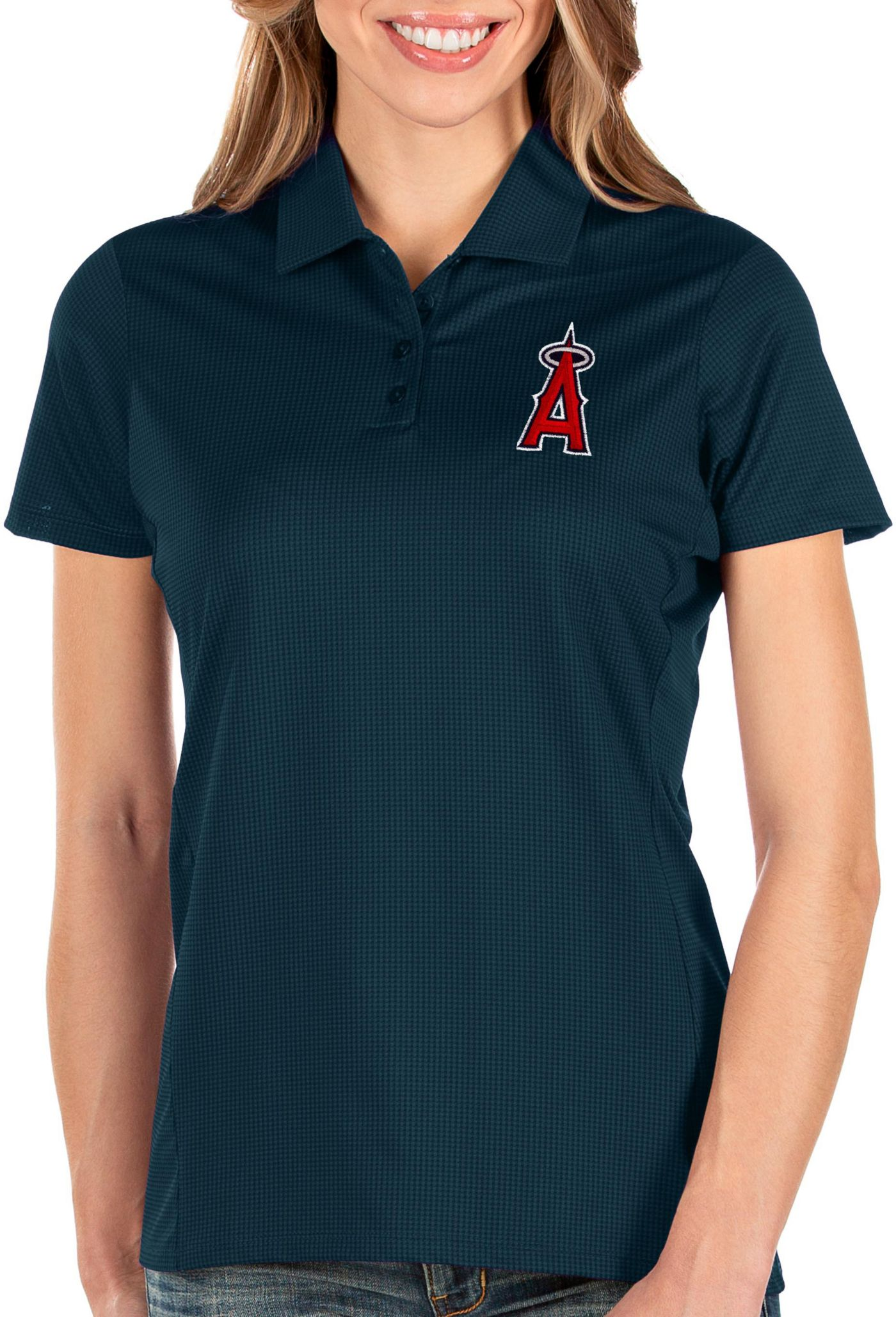Antigua Women's Los Angeles Angels Navy Balance Polo