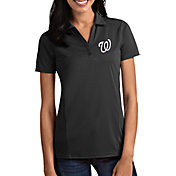 Antigua Women's Washington Nationals Tribute Grey Performance Polo