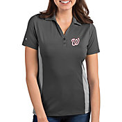 Antigua Women's Washington Nationals Venture Grey Performance Polo