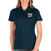 Antigua Women's Washington Nationals Navy Balance Polo
