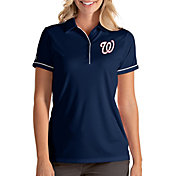 Antigua Women's Washington Nationals Salute Navy Performance Polo
