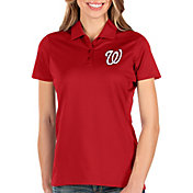 Antigua Women's Washington Nationals Red Balance Polo