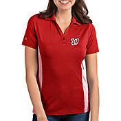 Antigua Women's Washington Nationals Venture Red Performance Polo