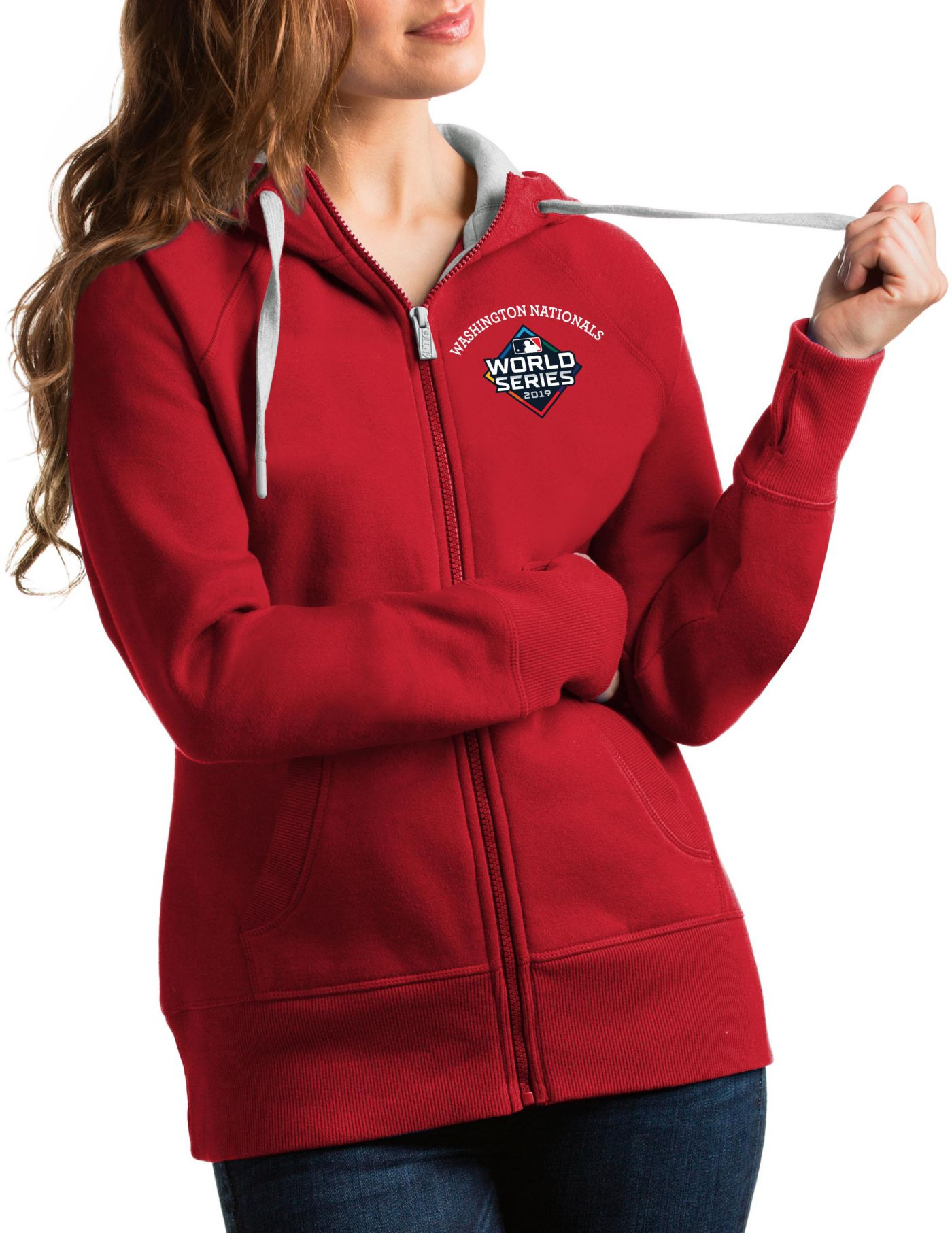 Antigua Women's 2019 World Series Washington Nationals Victory Full-Zip Sweatshirt