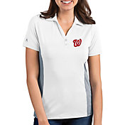 Antigua Women's Washington Nationals Venture White Performance Polo