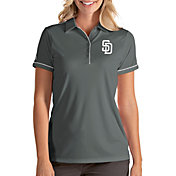 Antigua Women's San Diego Padres Salute Grey Performance Polo