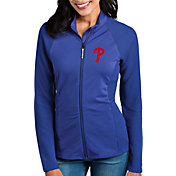 Antigua Women's Philadelphia Phillies Royal Sonar Performance Quarter-Zip Pullover