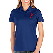 Antigua Women's Philadelphia Phillies Royal Balance Polo
