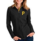 Antigua Women's Pittsburgh Pirates Black Glacier Full-Zip Jacket