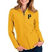 Antigua Women's Pittsburgh Pirates Gold Glacier Full-Zip Jacket